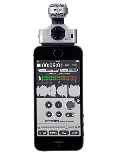 Zoom Iq7 Ms Stereo Microphone For Iphone Ipad Ipod Touch New