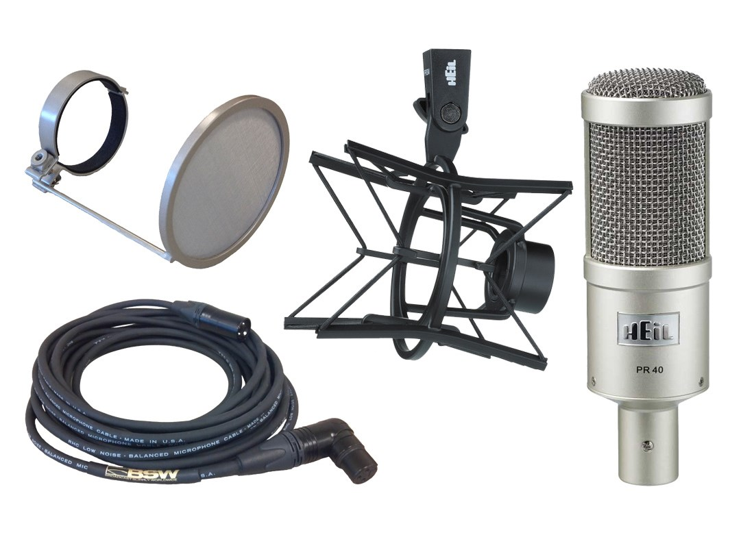 Heil PR40 Microphone and Accessory Package Deal