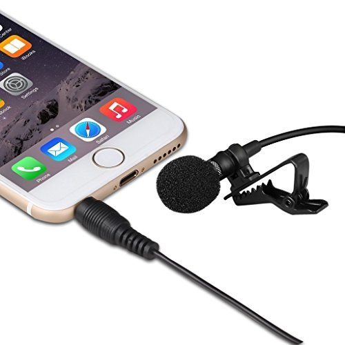 Lavalier Lapel Microphone Clip On Omnidirectional Condenser Mic For Apple Iphone Ipad Ipod Touch Samsung Android Windows Smartphones Perfect For Youtube Podcasting Podcast Hero High Converting Podcasts