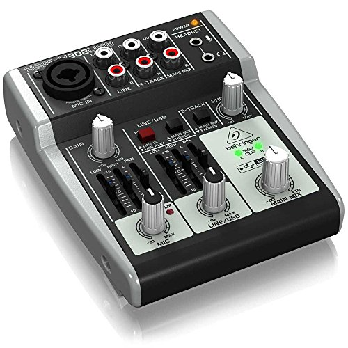 behringer xenyx 302usb premium 5 input mixer with mic preamp and usb a. Black Bedroom Furniture Sets. Home Design Ideas