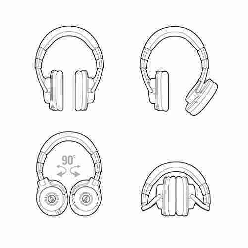 Audio-Technica ATH-M40x Professional Studio Monitor Headphone, Black