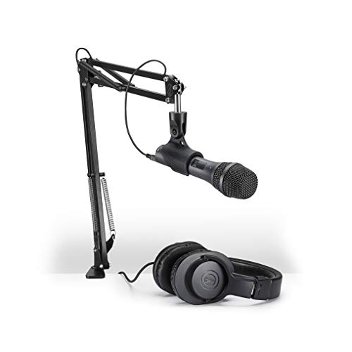 audio technica at2005usbpk vocal microphone pack for streaming podcast. Black Bedroom Furniture Sets. Home Design Ideas