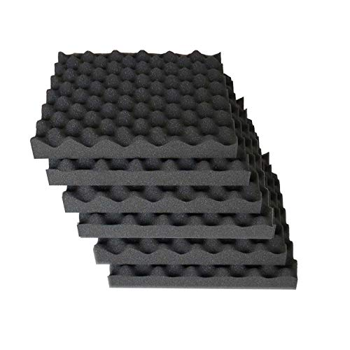 6 Pack Egg Crate Foam Acoustic Foam Tiles Soundproofing
